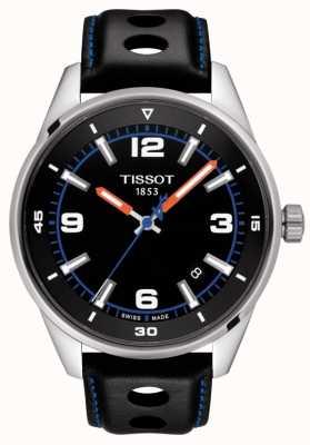 Tissot alpine | zwarte leren band | zwarte wijzerplaat | T1236101605700