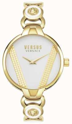 Versus Versace | saint germain | verguld roestvrij staal | witte wijzerplaat | VSPER0219