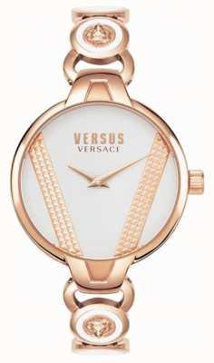 Versus Versace | saint germain | rosé goudkleurige roestvrij staal | witte wijzerplaat VSPER0419