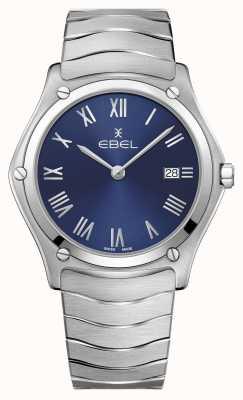 EBEL | klassieker voor heren | roestvrij stalen armband | blauwe wijzerplaat 1216420A
