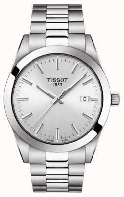 Tissot | heer | roestvrij stalen armband | zilveren wijzerplaat | T1274101103100