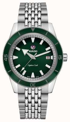 Rado XL 'captain cook' roestvrij stalen armband groene wijzerplaat R32505313
