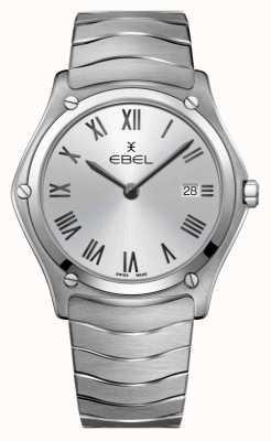 EBEL | klassiek voor heren | roestvrij stalen armband | zilveren wijzerplaat 1216455A