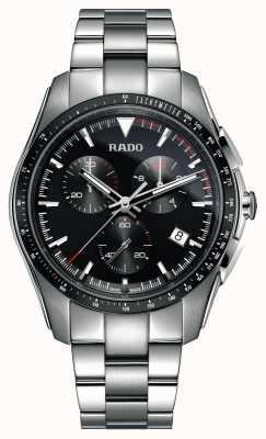 Rado XXL hyperchrome chronograaf roestvrij staal zwarte wijzerplaat horloge R32259153
