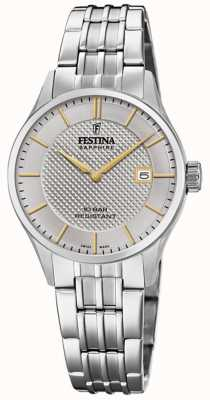 Festina | Zwitserse makelij voor dames | roestvrijstalen armband | zilveren wijzerplaat F20006/2