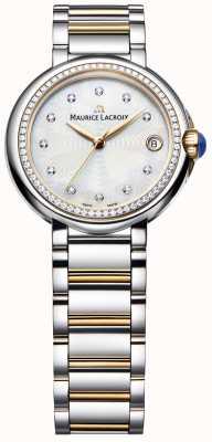 Maurice Lacroix Fiaba dames diamanten set tweekleurig parelmoer FA1004-PVP23-170-1