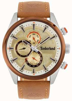 Timberland | heren ridgeview | bruin lederen band | minerale wijzerplaat | 15953JSTBN/04