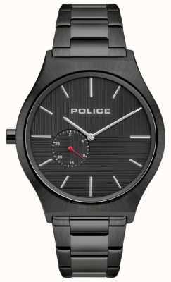 Police | mannen orkneys | zwarte roestvrij stalen armband | zwarte wijzerplaat 15965JSU/02M