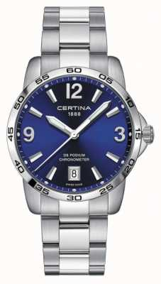 Certina Heren ds podium | chronomer | 40 mm | blauwe wijzerplaat | C0344511104700