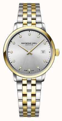 Raymond Weil | toccata voor dames | tweekleurig roestvrij staal | zilveren wijzerplaat | 5985-STP-65081