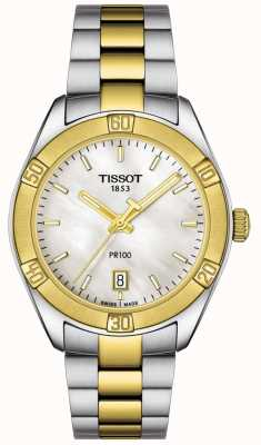 Tissot | dames pr100 sport chic | tweekleurige armband | T1019102211100