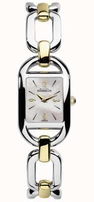 Michel Herbelin Dames kyudo-mop-wijzerplaat tweekleurige roestvrij stalen armband 17471/BT19