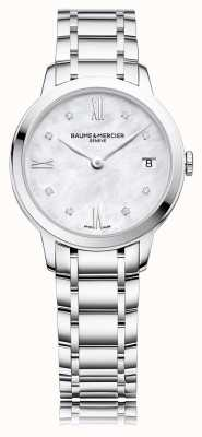 Baume & Mercier Classima diamant | roestvrij stalen armband | moeder van peal M0A10326