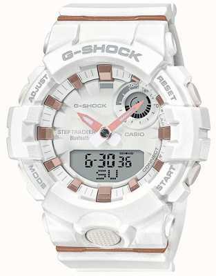 Casio   g-shock g-ploeg   witte rubberen band   bluetooth slim   GMA-B800-7AER
