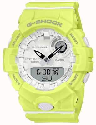 Casio G-shock g-ploeg   gele rubberen band   bluetooth slim   GMA-B800-9AER