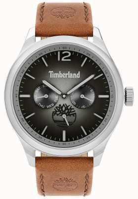 Timberland City lifestyler | bruine lederen band | zwarte wijzerplaat | 15940JS/13