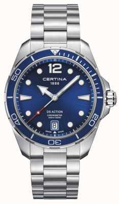 Certina ds actie | chronometer | blauwe wijzerplaat C0324511104700