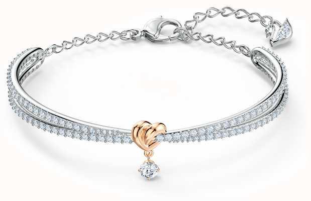 Swarovski | levenslang hart | gemengd metaal | armband | wit 5516544