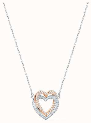 Swarovski | infinity hart ketting | wit | gemengde metalen afwerking 5518868