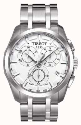 Tissot Couturier heren chronograaf roestvrij staal zilveren wijzerplaat T0356171103100