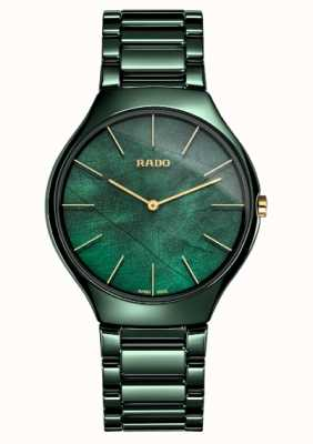 Rado Dames | true thinline | groen keramiek R27006912