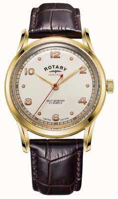 Rotary Heren | beperkte editie | erfgoed | bruine lederen band GS05143/03