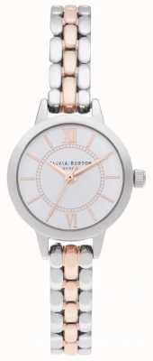 Olivia Burton   wonderland zilver en rose goud   tweekleurige armband OB16MC50