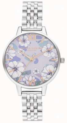 Olivia Burton Groovy bloei rose gouden en zilveren armband OB16AN05