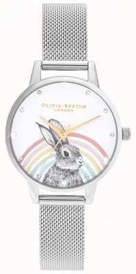 Olivia Burton Regenboog konijn, goud en zilver gaas OB16WL89