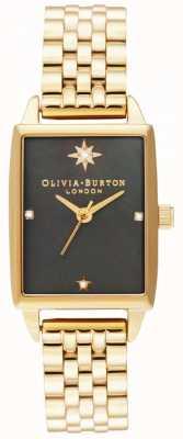 Olivia Burton   hemelse faux   zwarte parelmoer wijzerplaat   gouden armband OB16GD60