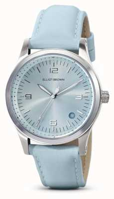 Elliot Brown | dames | kimmeridge | aqua zonnestraal wijzerplaat | waterband | 405-015-L61