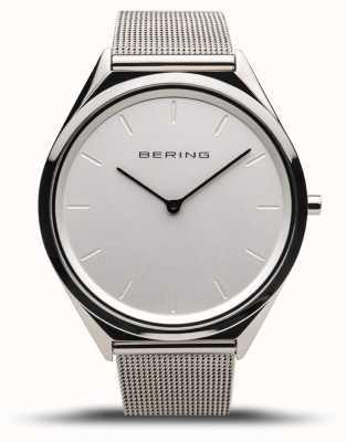 Bering | unisex | ultraslank | gepolijste zilveren mesh armband | 17039-000