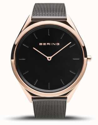 Bering | unisex | ultraslank | zwarte mesh armband | 17039-166