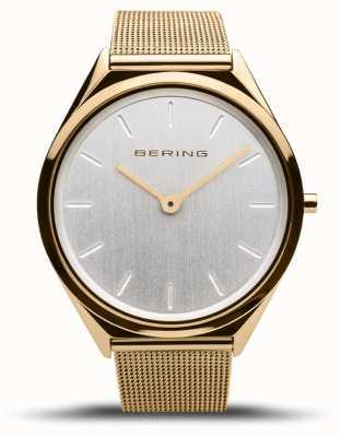 Bering | unisex | ultraslank | gouden gaas armband | 17039-334
