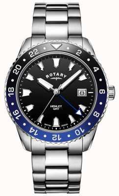 Rotary Heren henley | roestvrij stalen armband | tweekleurige bezel | GB05108/63