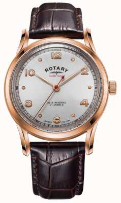 Rotary Heritage limited edition voor heren | rosé gouden kast | GS05144/70