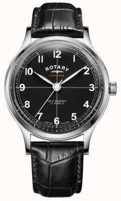 Rotary Heritage limited edition voor heren | zwarte leren band | GS05125/04