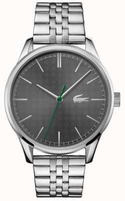 Lacoste Heren Wenen | roestvrij stalen armband | grijze wijzerplaat 2011073