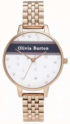 Olivia Burton Dames   demi   varsity   rose goud pvd OB16VS06