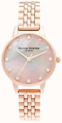 Olivia Burton midi-mopwijzerplaat met schroefdetail | rosé gouden armband | OB16SE10