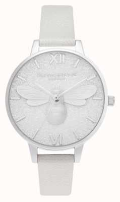Olivia Burton | glitter demi wijzerplaat | Pearl Bee Shimmer horloge | OB16FB20