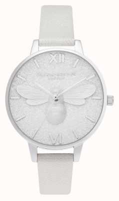 Olivia Burton glitter wijzerplaat | Pearl Bee Shimmer horloge | OB16FB20