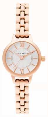Olivia Burton | wonderland | mini wijzerplaat | rosé gouden armband | OB16MC51