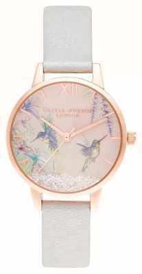 Olivia Burton Wishing wings midi shimmer pearl & rose goud OB16PP61