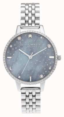 Olivia Burton Night sky demi dial zilveren armband OB16GD65
