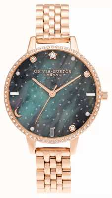 Olivia Burton Northern Lights roségouden armband met demi-wijzerplaat OB16GD66
