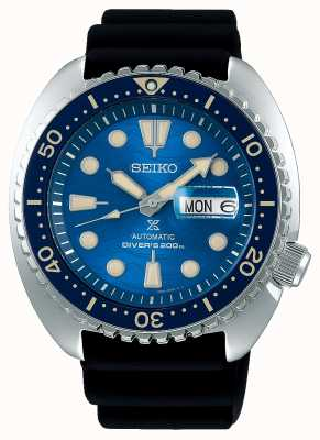 Seiko Prospex heren mechanisch | red de oceaan | zwart rubber SRPE07K1