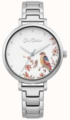 Cath Kidston Roestvrij stalen armband voor dames | zilveren vogel wijzerplaat CKL099SM