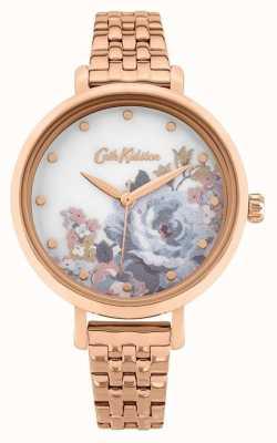 Cath Kidston | dames somerset | rosé vergulde armband | bloemen wijzerplaat CKL087RGM