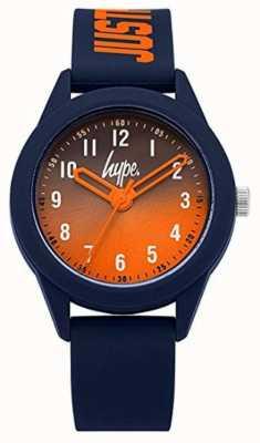 Hype | marine siliconen band | oranje wijzerplaat | HYK003U